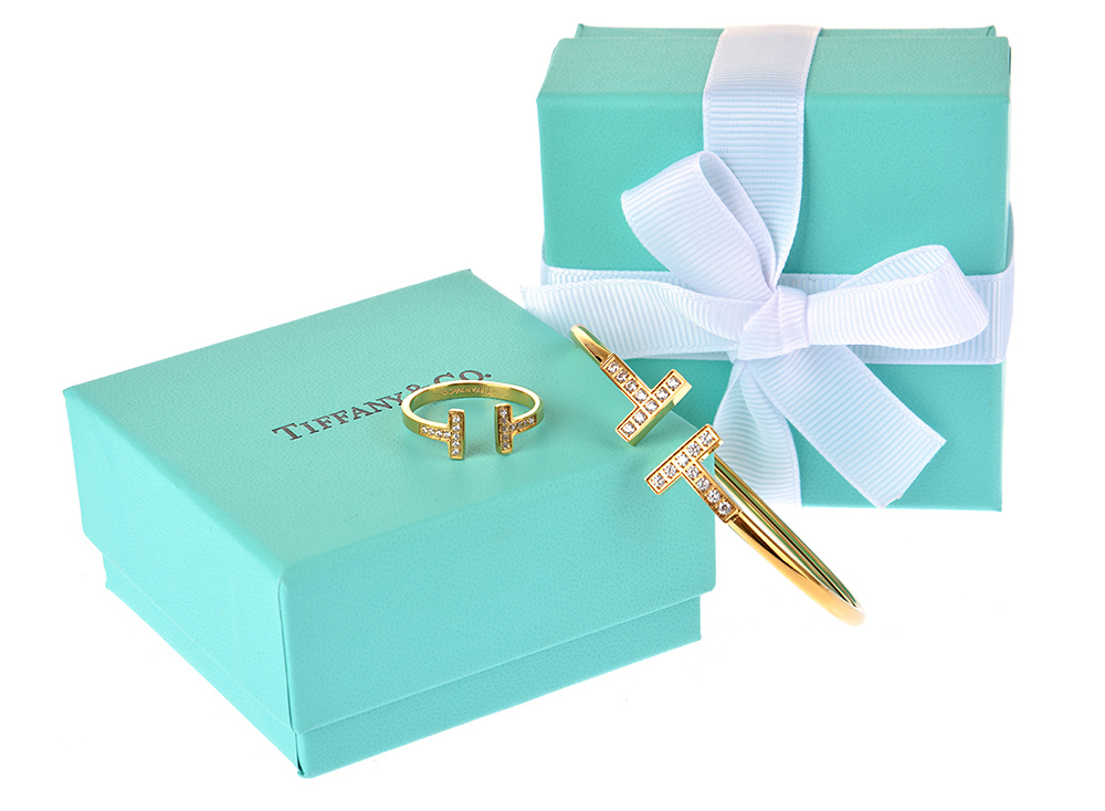 Браслет и кольцо Tiffany T Wire арт. TF-45804