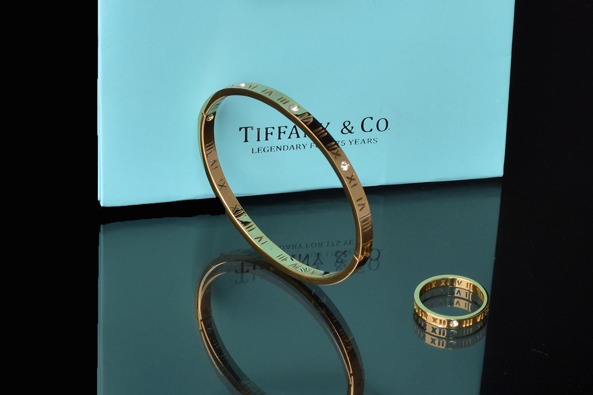 Браслет и кольцо Atlas Tiffany с художественной перфорацией арт. TF-30789