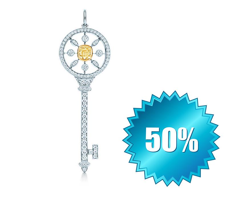 Круглая подвеска-ключ с калейдоскопическим узором 4,7 см арт. TF-35716